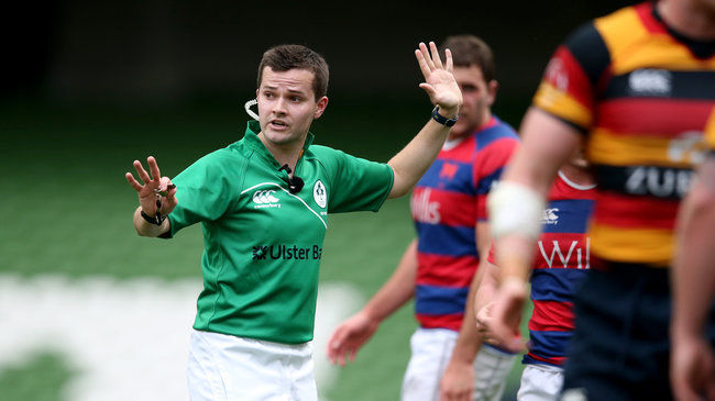Ulster Bank League Division 1A Final, Aviva Stadium, Dublin 9/5/2015 Lansdowne vs Clontarf Referee Sean Gallagher  Mandatory Credit ©INPHO/Dan Sheridan